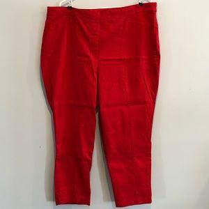 Red Dalia Crop Pant